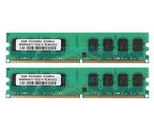 NEW 4GB 2X 2GB 2RX8 PC2-4200 DDR2 533MHz 240PIN Desktop INTEL DIMM Memory RAM
