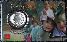 CANADIAN GEM 2000 - 25 CENTS - In Plastic RCM Holder -FAMILY -Ties that Bind-NCC