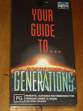 STAR TREK  - YOUR GUIDE TO GENERATIONS -  VHS TAPE 1994 EXC