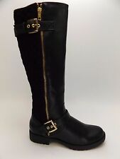 Penny Loves Kenny  Womens Dallas Black Quilted Riding Boots SZ 7.0 M NEW   D1891