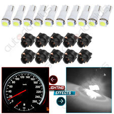 (10) T5 Twist Socket White Dashboard Gauge 5050 1SMD LED Wedge Lamp Bulbs Light