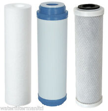 Replacement filters for 3 Stage HMA Water filter system heavy metal filter 10""