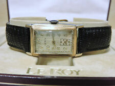 LEROY CURVEX VINTAGE HIGH GRADE 15 JWLS MOV ARABIC DIAL SUBSECONDS WINDOW 1930'S
