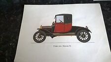 FORD 1911 [ MODEL T ] COLOUR PRINT