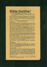 Arya-laya correcto tratamiento capilar! Fritz novio Hannover alopecia 1930 cuidados