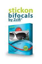 Stick On Bifocals by Zcifi +2.50 FREE Case 2  Packs INSTANT Bifocals