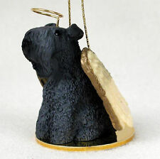 Kerry Blue Terrier Dog Figurine Angel Statue