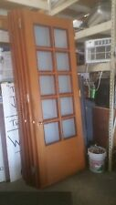 2 HIGH END WOODEN DOORS FOR OFFICE / HOME WITH 10 PANEL FROSTED GLASS RIGHT LEFT
