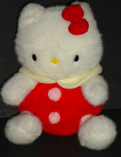 Rare - Vintage Hello Kitty Stuffed Plush - Sanrio - Japan - 12 inches - EXC