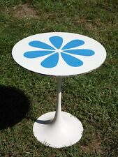 Vintage Mid Century Modern Burke Flower Tulip Side End Accent Table Saarinen Era