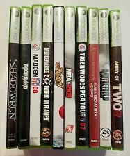 Lot of 10 Microsoft Xbox 360 Console Video Games - Complete in the Original Case