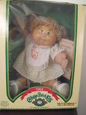 VINTAGE CABBAGE PATCH KID 1985 GIRL Brown Hair Ponytail Dimple Brown Eyes NiB
