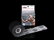 Ares Tape Uncut - Black - Roll - Kinesiology Elastic Sports Tape PRO Support KT
