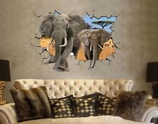 Africa elephant 3D image home Decor Removable Wall Sticker/Decal/Decoration