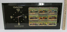 Vintage Dayco Series Nascar Racing Wall Clock Pictures Of Drivers & Their Cars