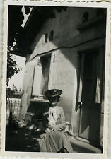 PHOTO ANCIENNE - VINTAGE SNAPSHOT - FEMME MODE CHAPEAU - WOMAN FASHION HAT