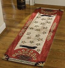 "FOLK CROW HAND HOOKED COUNTRY RUG RUNNER By PARK DESIGNS LARGE 24""x72"""