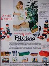 PUBLICITÉ 1968 RIVIERA COLLECTION DE BACS ET DE POTS - ADVERTISING