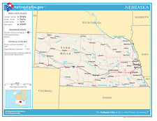 Nebraska State Reference Laminated Wall Map