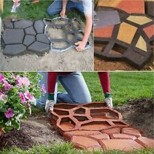 Driveway Paving Brick Patio Concrete Slabs Path Garden Maker Mould DIY Cement