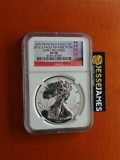2012 S REVERSE PROOF SILVER EAGLE NGC PF70 EARLY RELEASES BRIDGE SAN FRAN LABEL