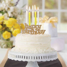 Mud Pie MK6 Gold Party Candle Holder Happy Birthday Cake Topper 4985037