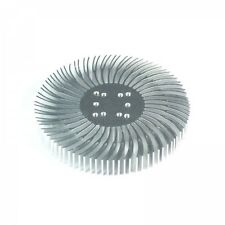 90x13mm Round Spiral Aluminum Alloy Heat Sink for 1W-10W LED Silver White