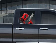 Vinyl Car Window Full Color Graphics Decal Deadpool with Gun Sticker