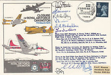Error Stamp missing backstamps C37dZ Closure of RAF Oakington.Signed 10