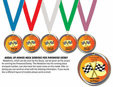 # Cub Scout Pinewood Derby 5Medal of Honor neck ribbonsUsed as a trophy or award