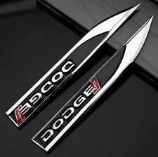 2pcs Metal Black Blade Emblems Badge Sticker for Auto car Fender modification