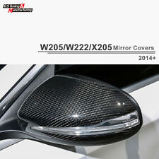 Carbon Fiber Replacement Mirror Cover For Mercedes Benz W205 W222 with LED Light