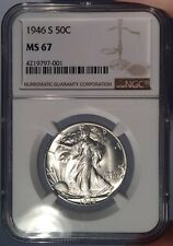 1946-S 50c NGC MS 67 Walking Liberty Half Dollar