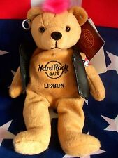 HRC Hard Rock Cafe Lisbon Lisboa Punk Bear Mohawk 2010 Pink Hair Herrington