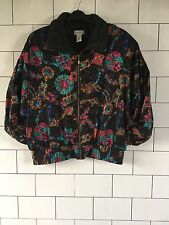 WOMENS VINTAGE OLD SCHOOL RETRO 90'S URBAN SHELLSUIT CRAZY JACKET #43