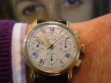 GOLD WATCH 750 18k. RENE MARCHAL Chronograph Automatic XXL PHOTOS
