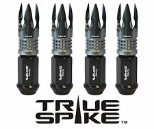 """20PC VMS 1/2"""" FORGED STEEL LUG NUTS W/ GUNMETAL POSEIDON TIPS FOR FORD LINCOLN"""