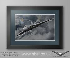 Framed Avro Vulcan B.2 Operation Black Buck, Falklands Digital Art Print