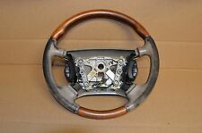 00 01 02 03 04 JAGUAR X100 XKR XK8 TAN WOOD GRAIN STEERING WHEEL OEM # 3