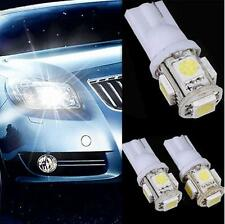Lots 10pcs White LED Car Wedge Tail Side Light Bulbs For T10 194 168 W5W 5 SMD