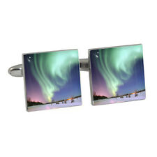 Northern Lights Scene Cufflinks aurora borealis australis astronomer sky NEW