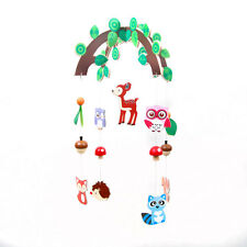 New wooden Forest Animals baby mobile Owls, Deer Fox Hedgehog..