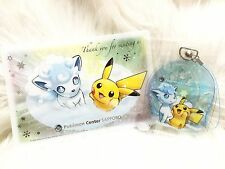 �� Pokemon Center Sapporo Limited Snow Festival Alola Ice Vulpix & Pikachu Charm