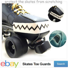 Leather Roller Derby skate toe guards Toe Stops Toe Caps with Chompy Teeth
