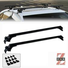"UNIVERSAL 50"" BLACK WINDOW FRAME ROOF TOP RAIL RACK TUBE CROSS BARS"