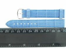 CARTIER LIGHT BLUE LEATHER STRAP WITH 18K WHITE GOLD BUCKLE, 15MM