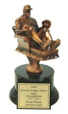FANTASY BASEBALL INDIVIDUAL ARMCHAIR BASEBALL PLAYER AWARD TROPHY