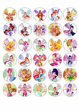 30 Winx Club Fairies Edible Paper Cupcake Cup Cake  Topper Image