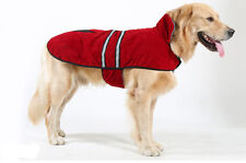 Warm Soft Fleece Dog Pet Puppy Coat Jacket Sweater Reflective Stripe Blue or Red