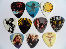 Stunning Set of 10 NIRVANA / KURT COBAIN Guitar .7mm Plectrum  Picks Two Sided